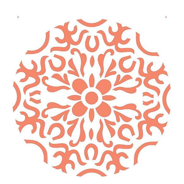 Stencil 30,5×30,5 Simples – Mandala I Camada II – OPA 2296