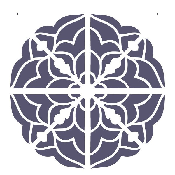 Stencil 30,5×30,5 Simples – Mandala III Camada I – OPA 2299
