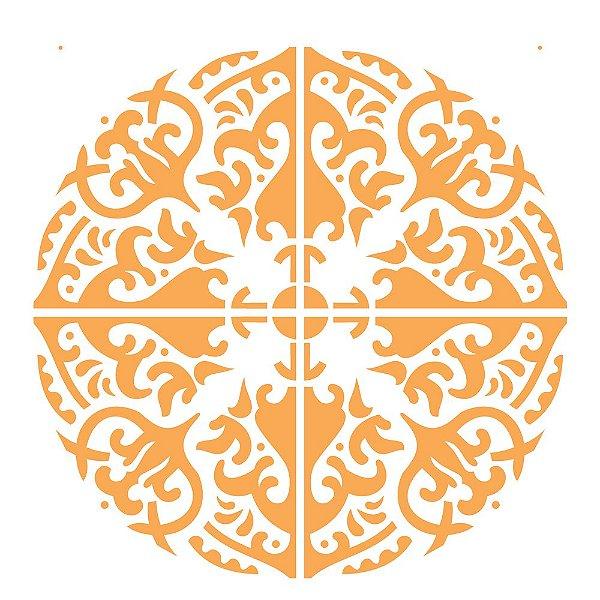 Stencil 30,5×30,5 Simples – Mandala III Camada II – OPA 2300