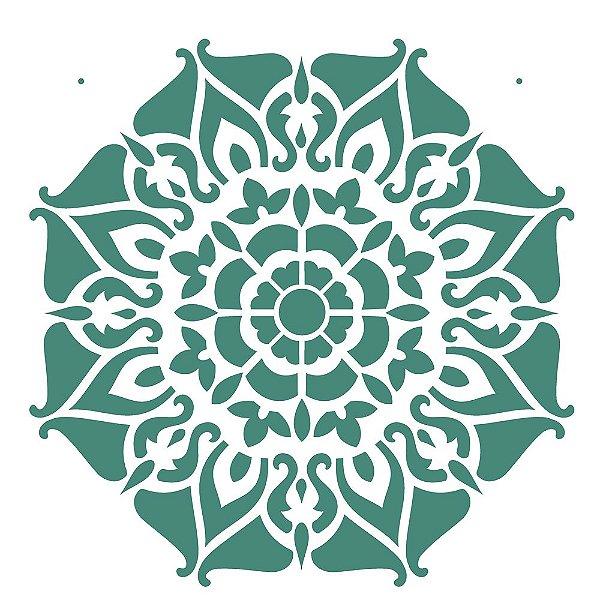 Stencil 30,5×30,5 Simples – Mandala II Camada I – OPA 2297