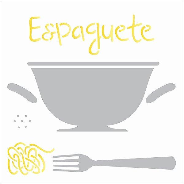 Stencil 30,5×30,5 Simples – Espaguete – OPA 2199