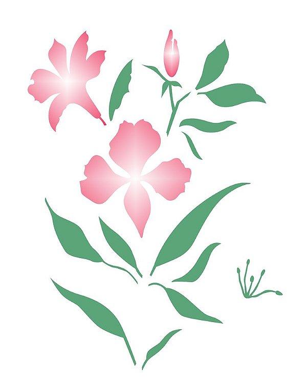 Stencil 20×25 Simples – Flor Astromélia – OPA 2275