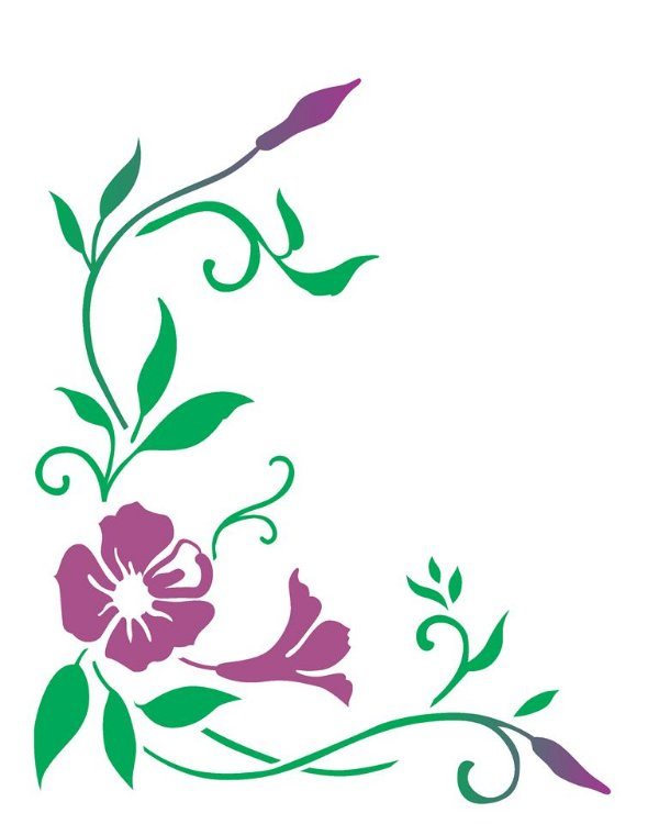 Stencil 20×25 Simples – Cantoneira Mandevilla – OPA 2264