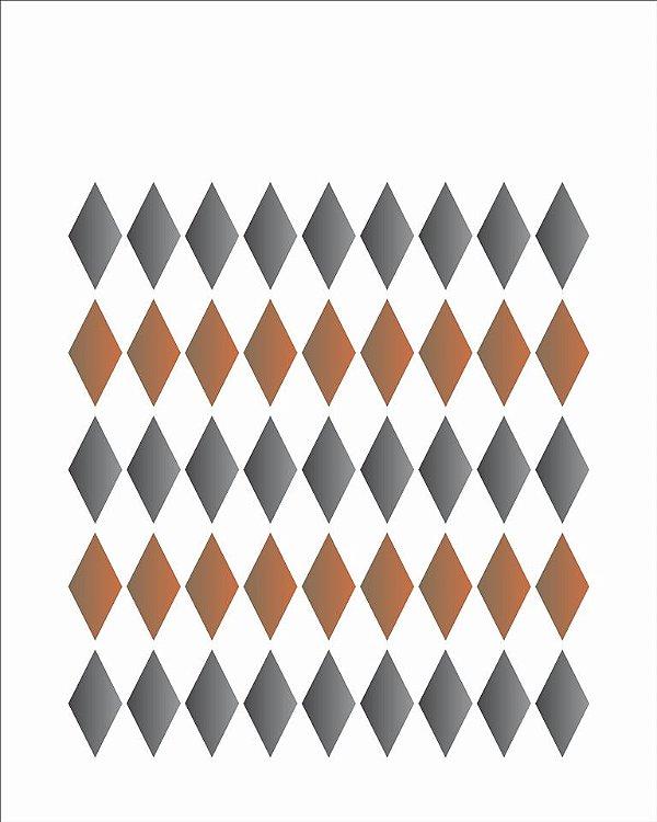 Stencil 20X25 Simples – Losango Pequeno – OPA 1782