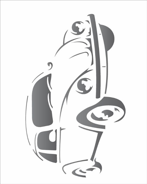 Stencil 20×25 Simpes – Fusca – OPA 1443