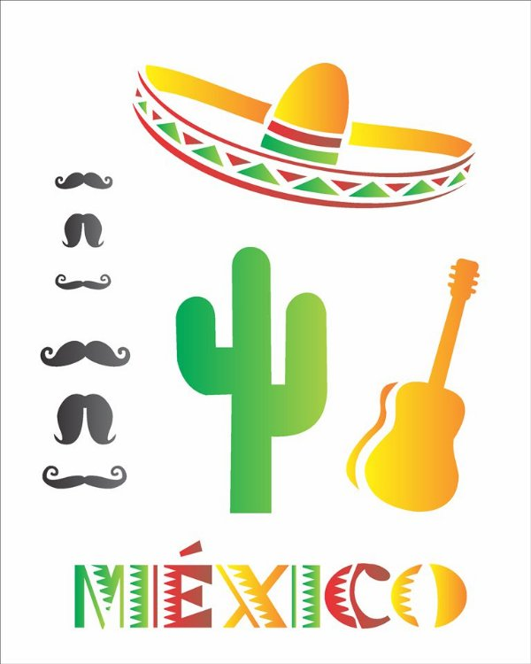 Stencil 20×25 Simples – Países México – OPA 1331