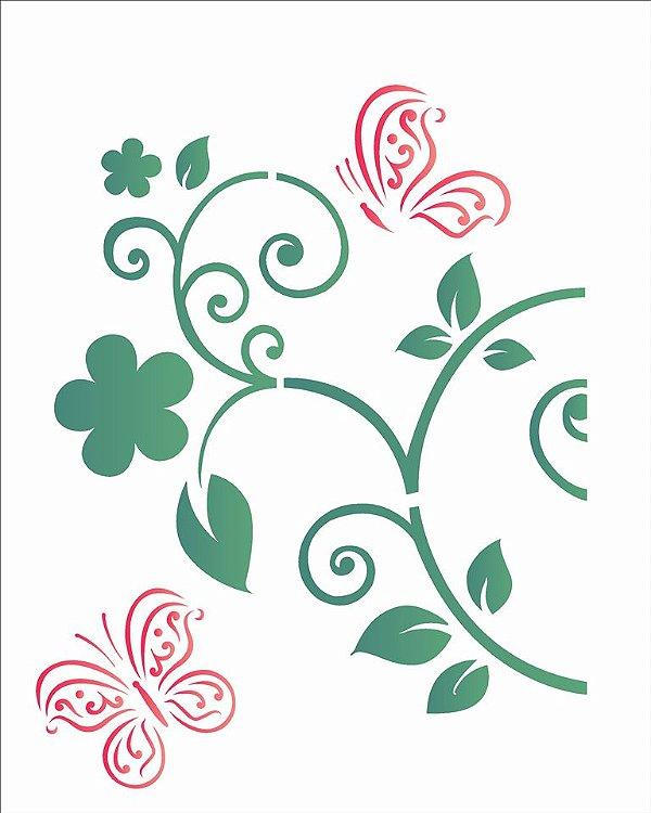 Stencil 20×25 Simples – Borboleta – OPA 2052