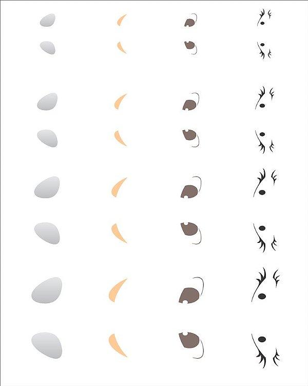 Stencil 20×25 Simples – Olhinhos II – OPA 1164