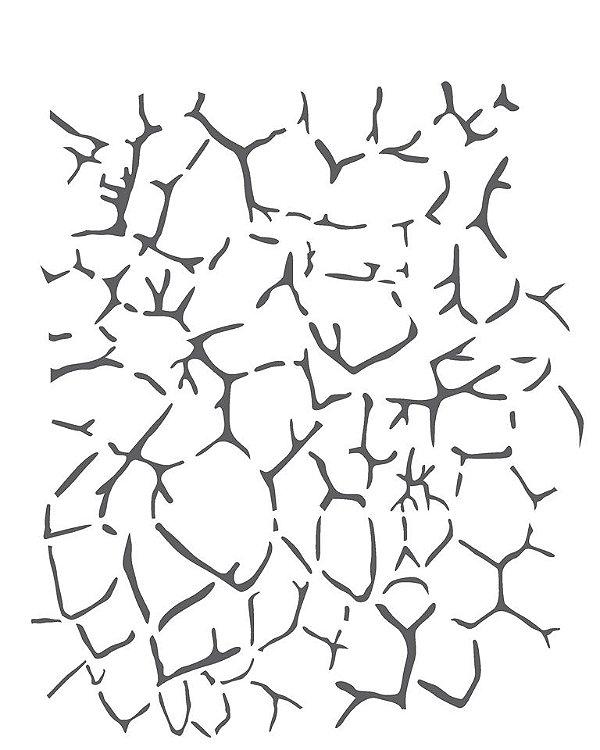 Stencil 20×25 Simples – Estamparia Craquelê II – OPA 2267