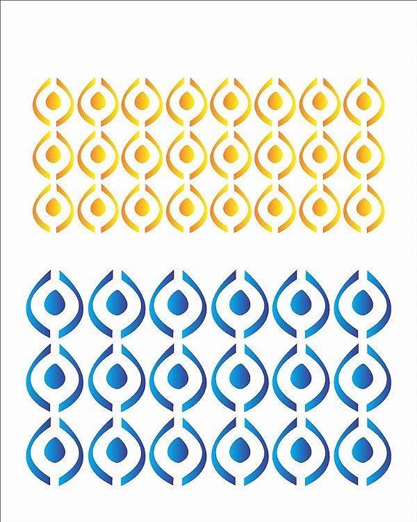 Stencil 20×25 Simpes – Estamparia Retrô II – OPA 1438