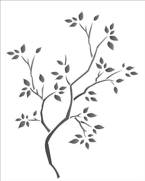 Stencil 20×25 Simples – Árvore Seca – OPA 1235
