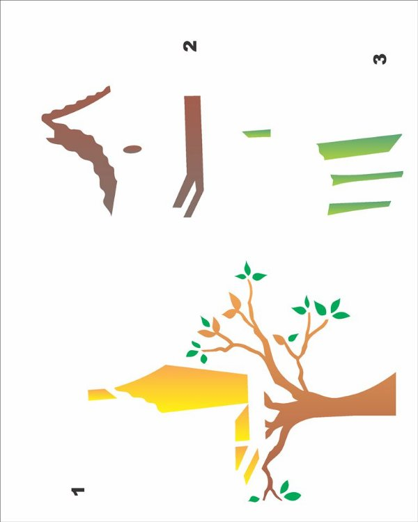 Stencil 20×25 Simples – Casa de Passarinho – OPA 1827