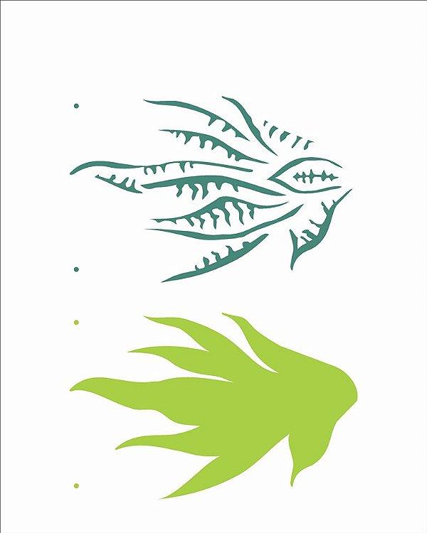 Stencil 20×25 Simples –Plantas Espada de São Jorge– OPA 2512