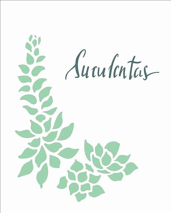 Stencil 20×25 Simples – Plantas Suculenta II – OPA 2514