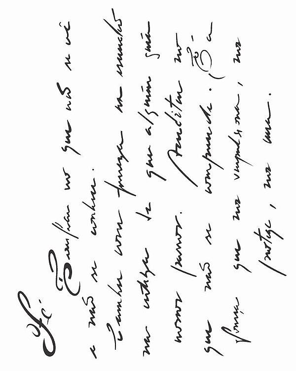 Stencil 20X25 Simples – Manuscrito Fé – OPA 1882