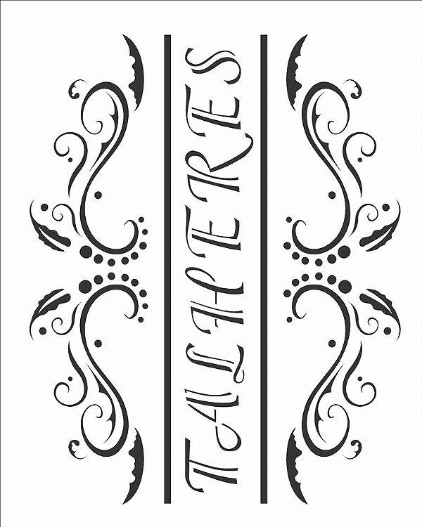 Stencil 20×25 Simples – Talheres – OPA 913