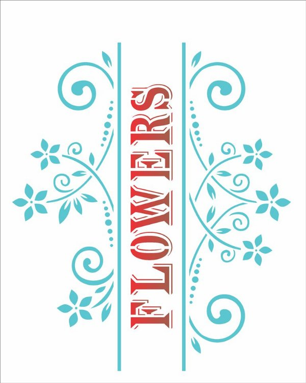 Stencil 20×25 Simpes – Flowers – OPA1442