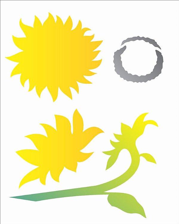 Stencil 20×25 Simples – Flor Girassois – OPA 2060