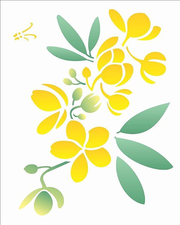Stencil 20×25 Simples – Flor Casiruba – OPA 2058