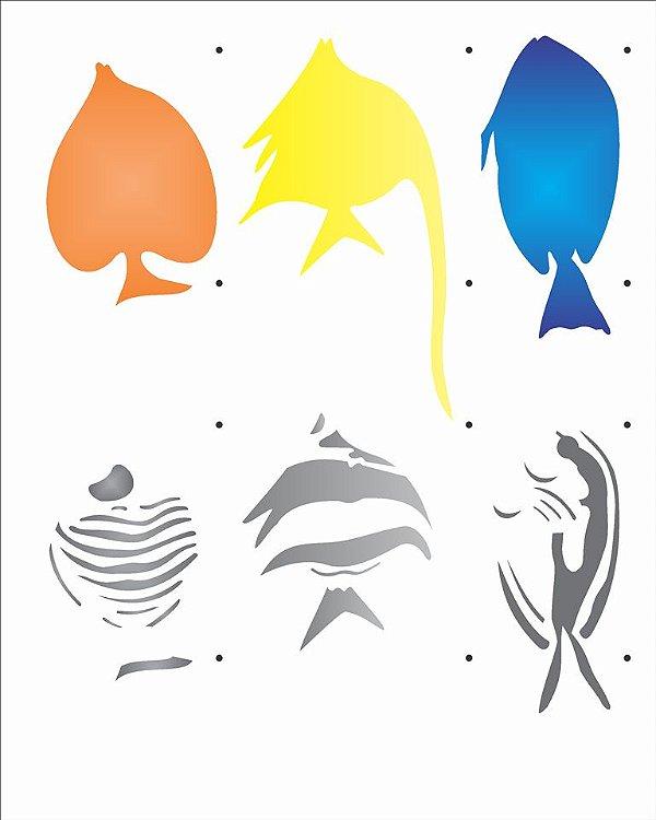 Stencil 20×25 Simples – Peixes III – OPA 2079