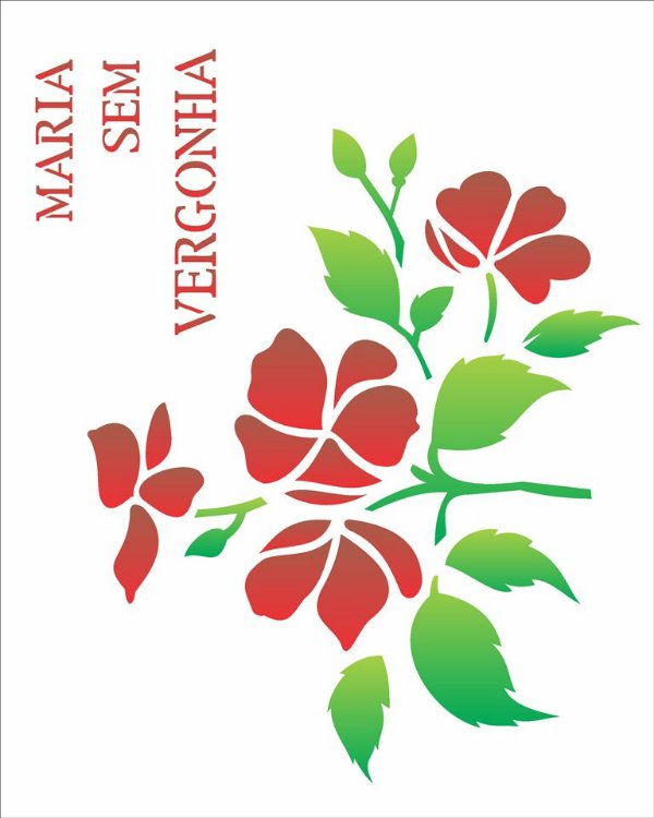 Stencil 20×25 Simpes – Maria sem Vergonha – OPA 1447