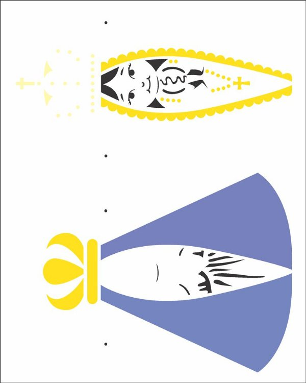 Stencil 20×25  – Nossa Sra. Aparecida Infantil - OPA 2192