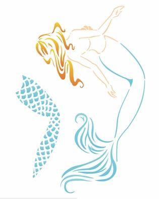 Stencil 20×25 Simples – Mar – Sereia – OPA 2586
