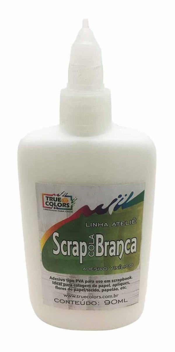 Cola Branca para Scrapbook True Colors Scrap Cola 90ml