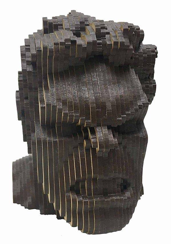 Rosto Busto Hulk MDF A Laser Decoração 15 cm