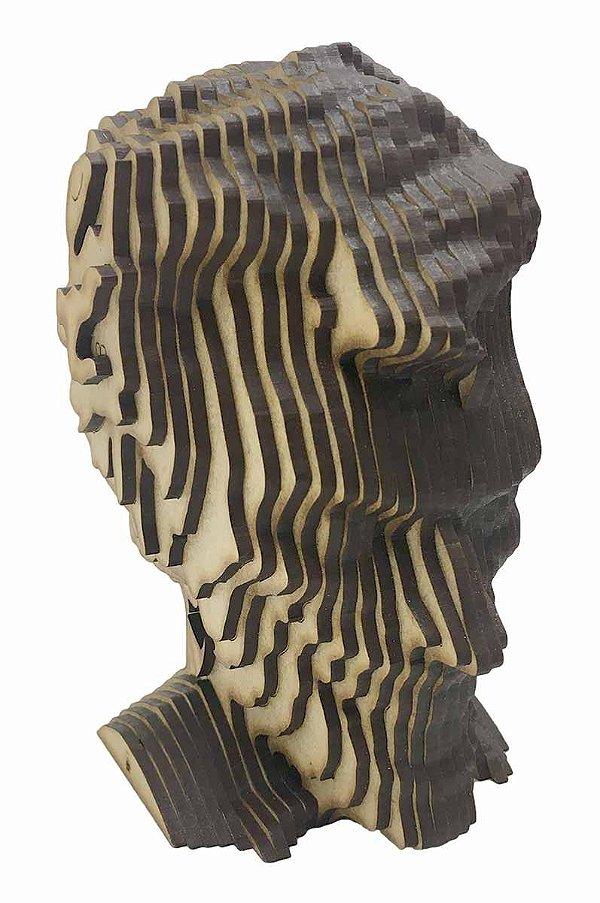 Rosto Busto Coringa MDF A Laser Decoração 15 cm
