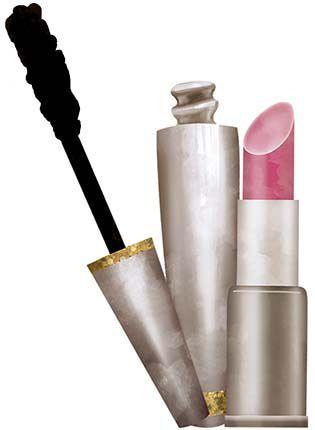 APM8-1104 - Aplique  Litoarte Em Papel E MDF - Maquiagem,Baton E Rimel