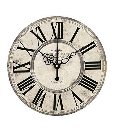 APM8-1070 - Aplique Litoarte Em Papel E MDF - Relógio Vintage