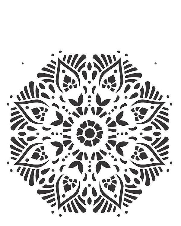 Stencil 20×25 Simples – Mandala II Camada II – OPA 2283