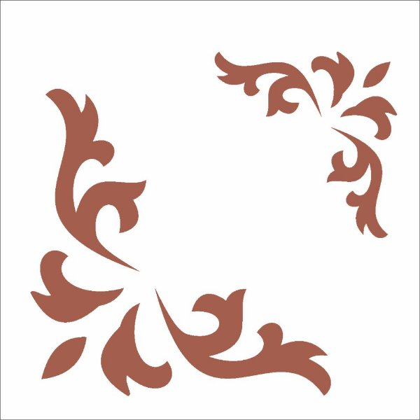 Stencil 10×10 Simples – Cantoneira Curva – OPA 1710