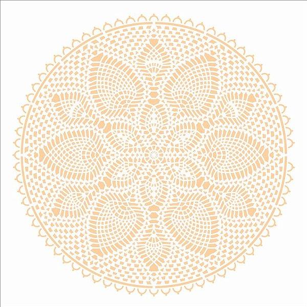 Stencil 30,5×30,5 Simples – Mandala Renda III – OPA 2731