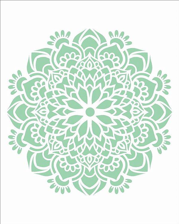 Stencil 20×25 Simples – Mandala Flor Bauer – OPA 2458