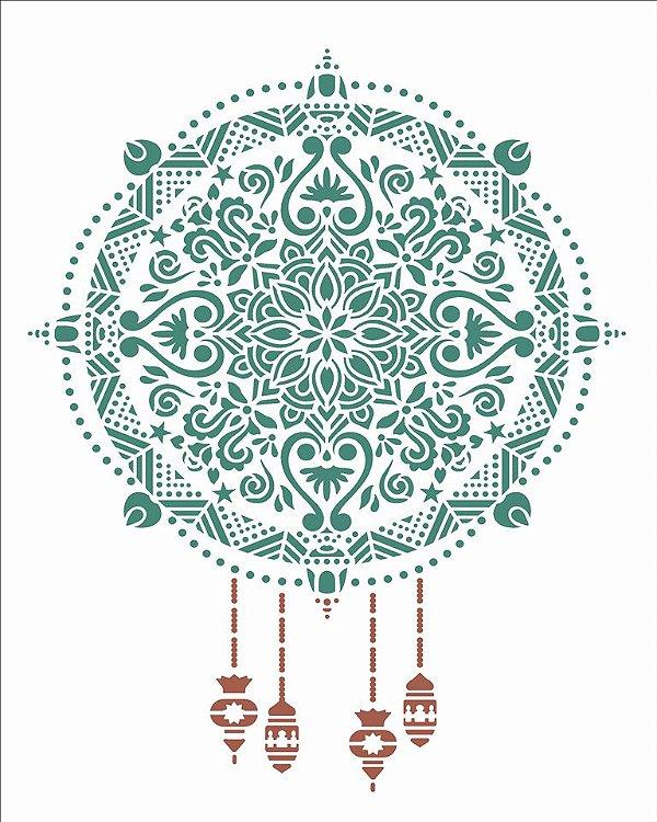 Stencil 20×25 Simples – Mandala Natalina – OPA 2736