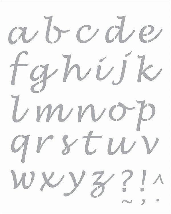 Stencil 20×25 Simples – Alfabeto Lucinda Minúsculo – OPA2509