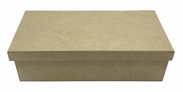Caixa Lisa Quadrada MDF  Tampa Sapato Solta 30x15x05 cm