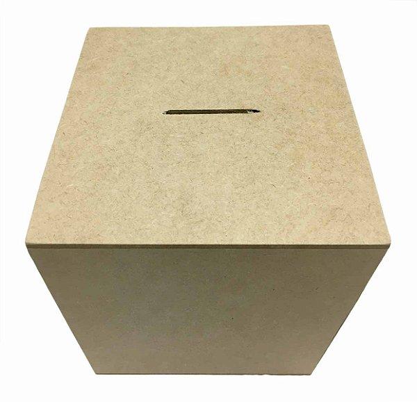 Caixa Cubo Cofre G MDF Liso 14x14x14 cm Promoção Exclusivo