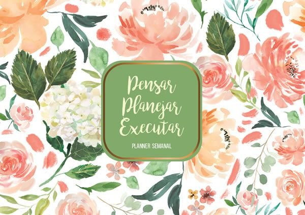 Agenda Planner Semanal Flores 2 PL-002 + Capa e Wire-o
