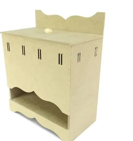 Porta Fralda de Passa Fita Kit Higiene BB - MDF Crú
