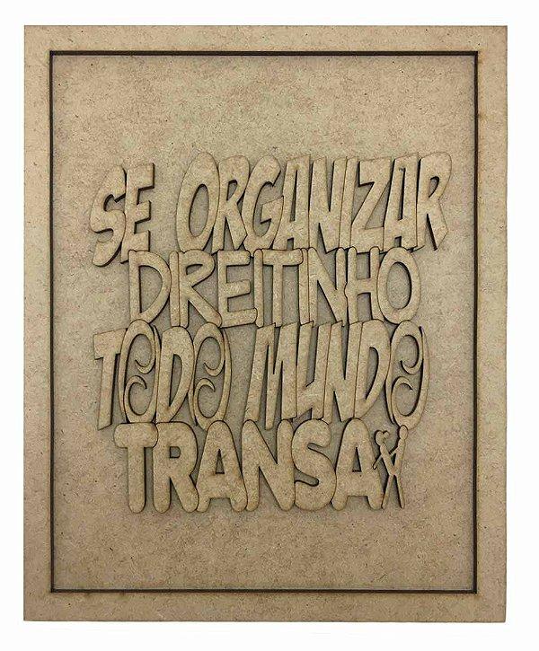 Quadros Decorativos Personalizado *Se Organizar Direit.* MDF
