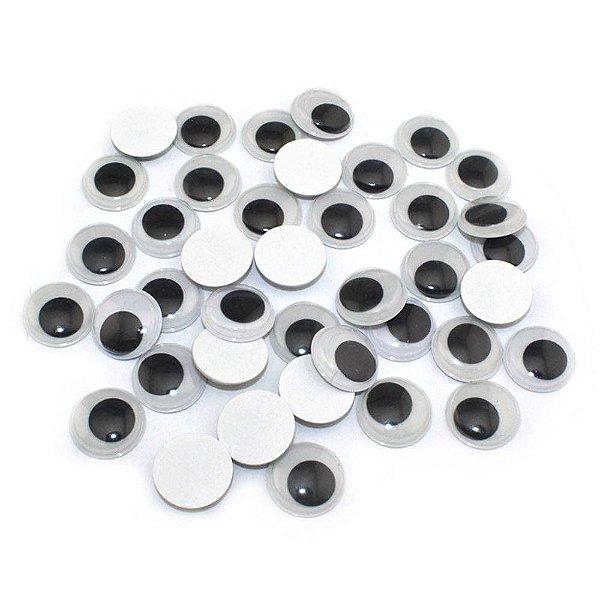 Olhos Móvel sem Pestana com 50 unidades  15 mm