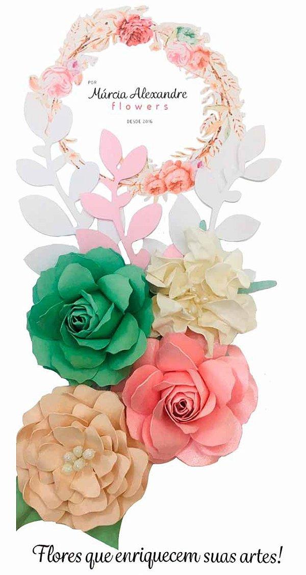 Flores de Papel P/ Scrapbook 18-02 Mesclada