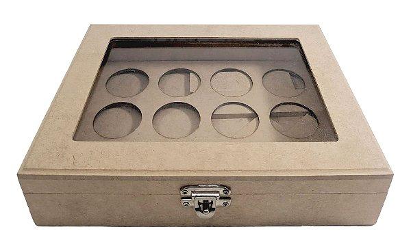 Caixa Porta 12 Capsulas de Café Dolce Gusto C/ Vidro em MDF