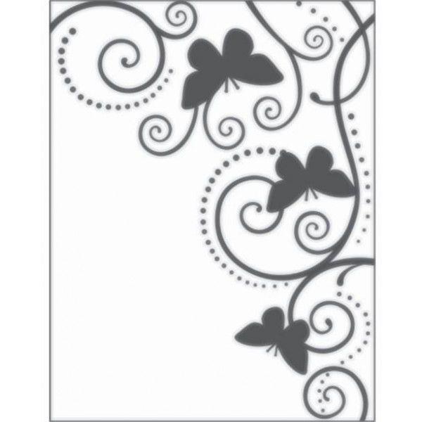 Placa De Emboss - Borboletas - 11 cm x 15 cm - Sunlit
