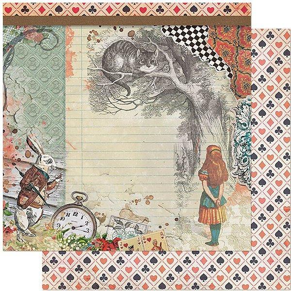 Kit Papéis Live Daia Casagrande - Mini Álbum Alice