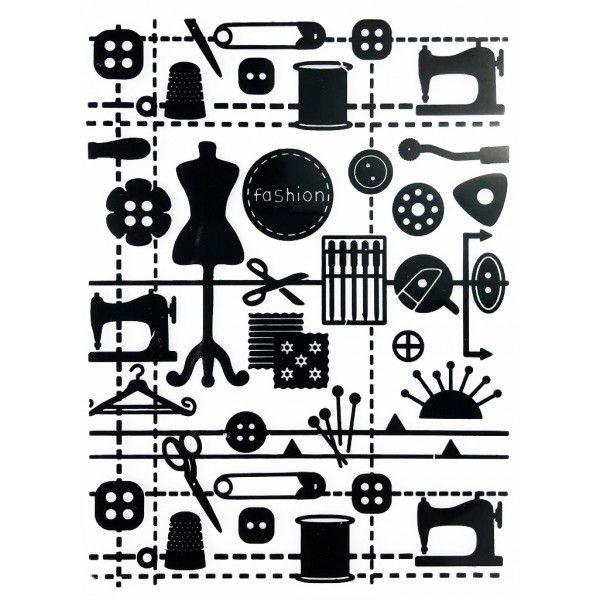 Placa para Relevo Arte e Montagem Costurices