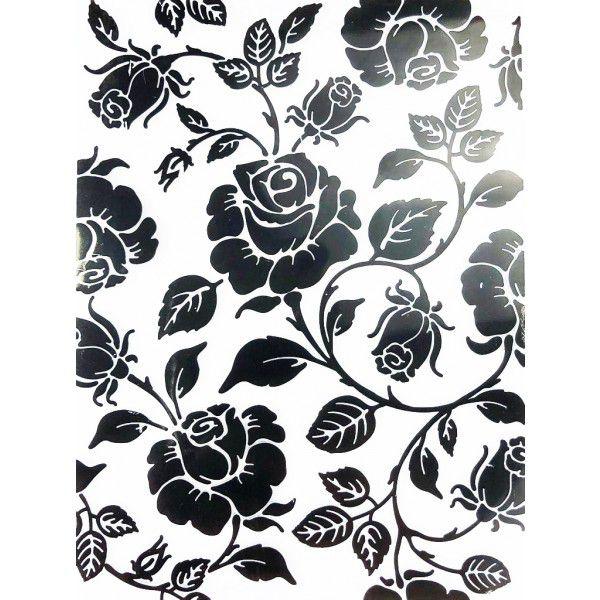 Placa para Relevo Arte e Montagem Rosas